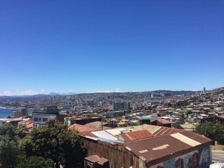 Vista da cidade de Valparaíso no Cerro