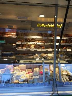 Stand de um dos produtores de queijo