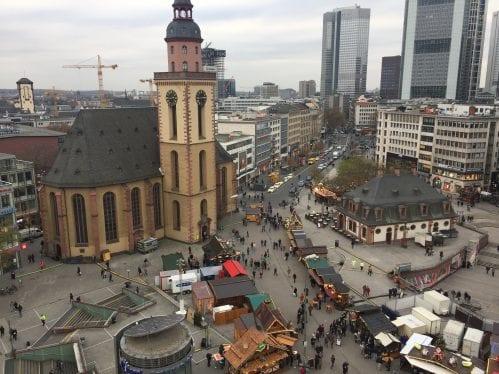 Vista da galeria Kaufhof de Frankfurt