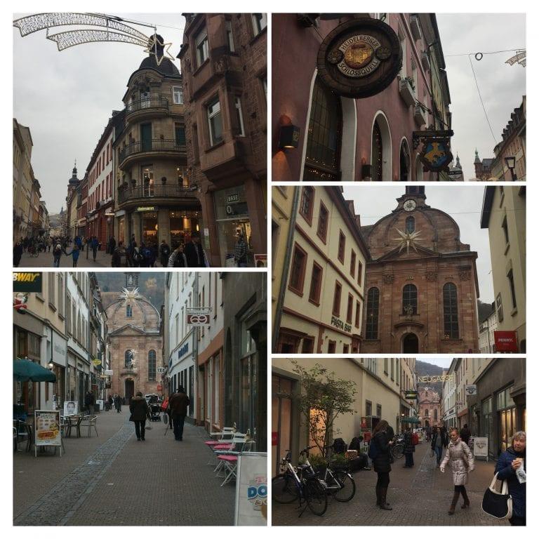 Heidelberg e suas ruas belíssimas e decoradas