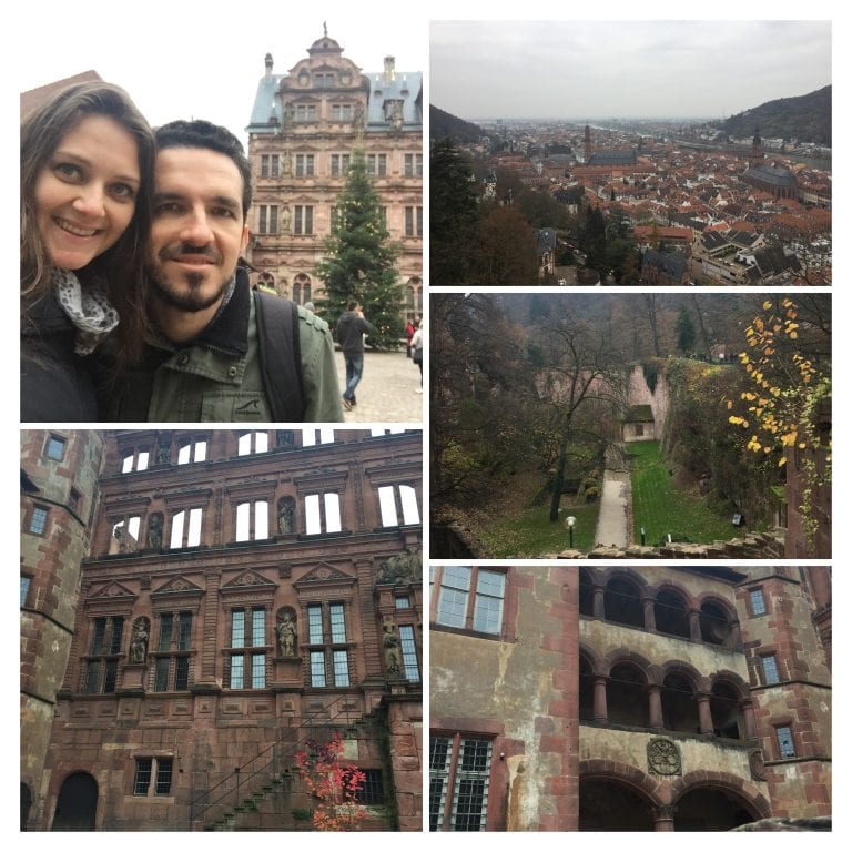 Schloss Heidelberg - Internas dos muros do castelo