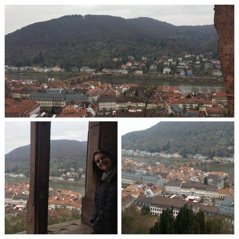 Schloss Heidelberg - Vista da cidade