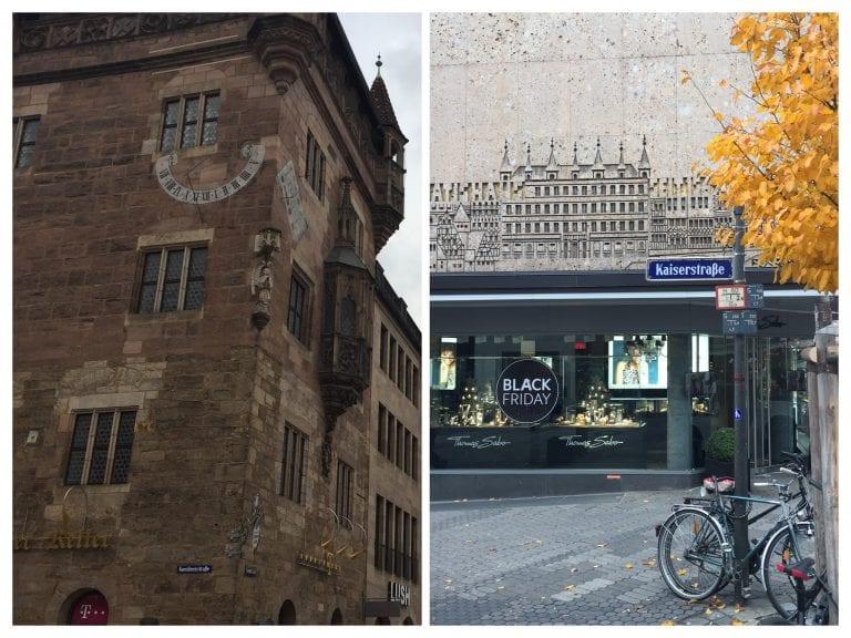 Arquitetura e fachadas históricas de Nuremberg