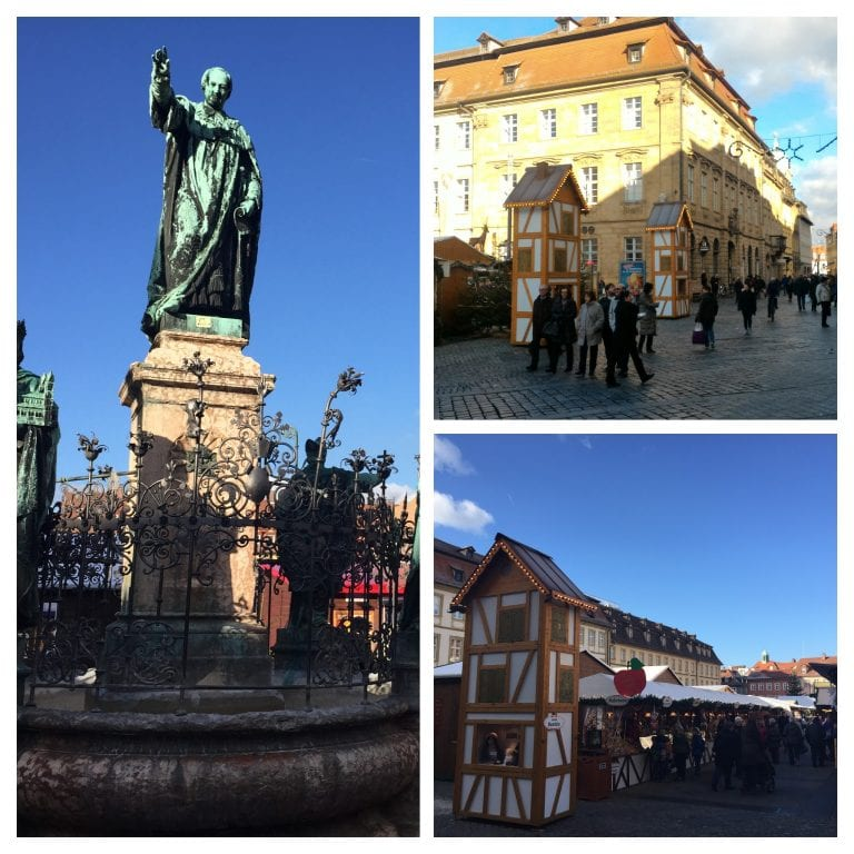 Estátua de Maximilian Brunnen e Mercado de Natal