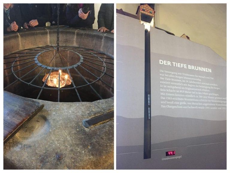 """Fonte """"Tiefe Brunnen""""- o poço do castelo"""