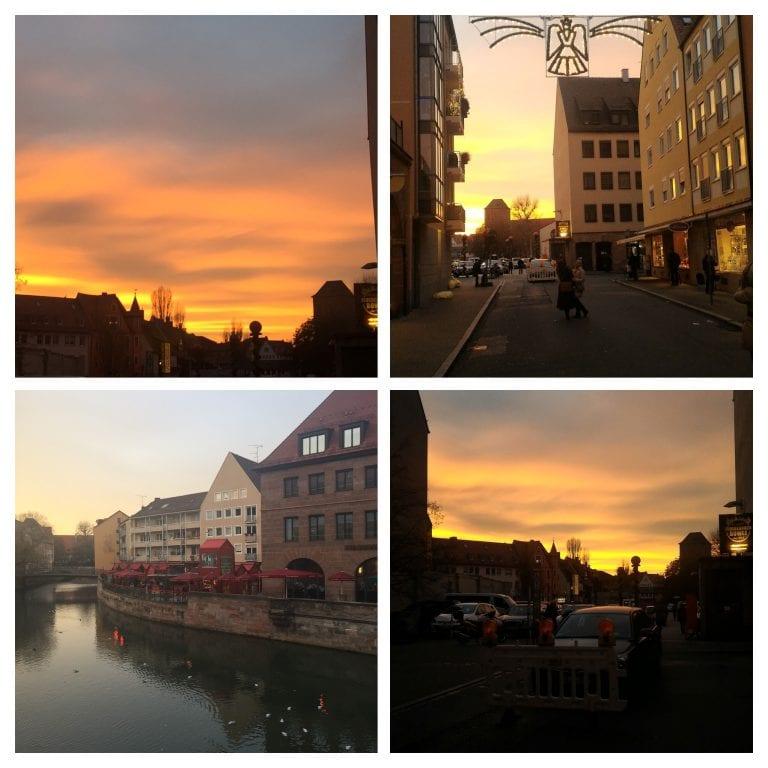 Último por do sol em Nuremberg