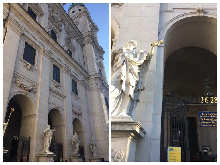Fachada da Catedral de Salzburg ou a Dom zu Salzburg