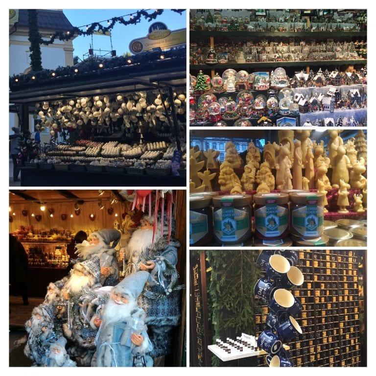 Enfeites e outros itens à venda nos Mercados de Natal da Alemanha