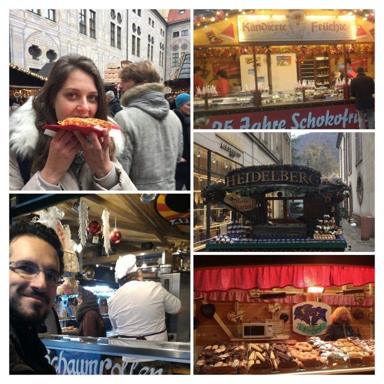 Doces nos Mercados de Natal na Alemanha