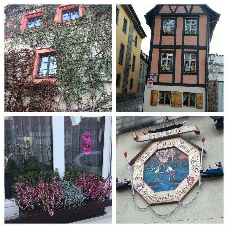 Casas e detalhes da região da Klein Venedig