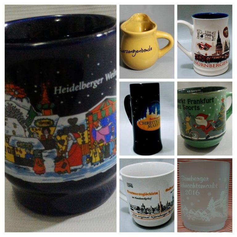 Coleção de canecas dos Mercados de Natal da Alemanha e Áustria
