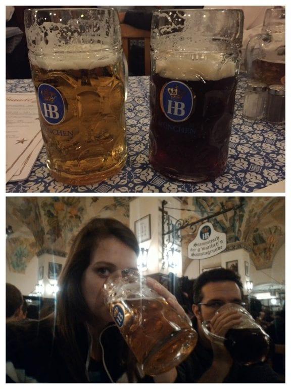 Hofbräu Dark Beer - the origin of Bavarian beer e a Hofbräu Original