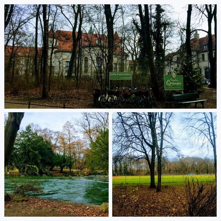 Englischer Garten (English Garden, ou Jardim Inglês), o maior parque urbano de Munique (tem cerca de 4,17 km)