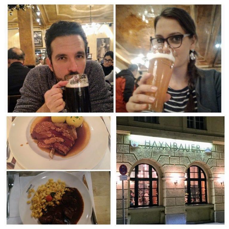 """Restaurante HaxnBauer: noite estava """"reservada"""" para comermos o joelho de porco mais famoso de Munique."""