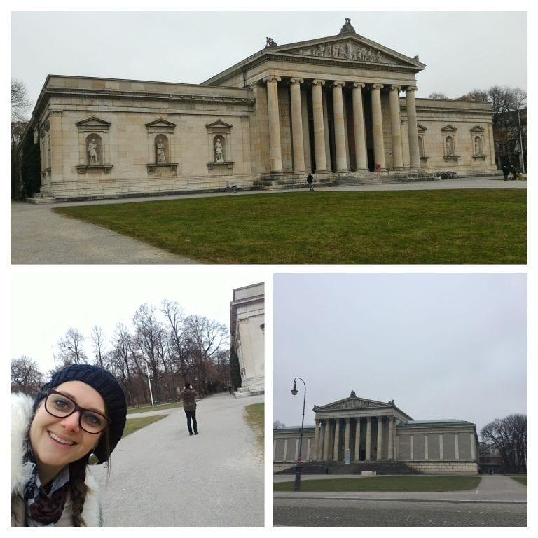 Região da Königsplatz, onde estão os museus Glyptothek, NS-Dokumentationszentrum, Alte Pinakothek, Neue Pinakothek