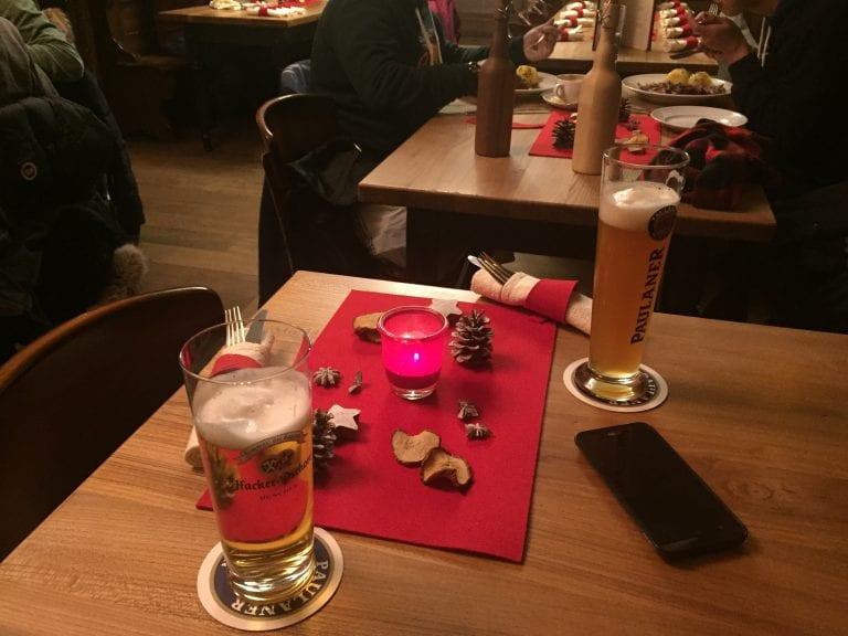 Decoração de natal do Restaurante Wirtshaus Zum Straubinger