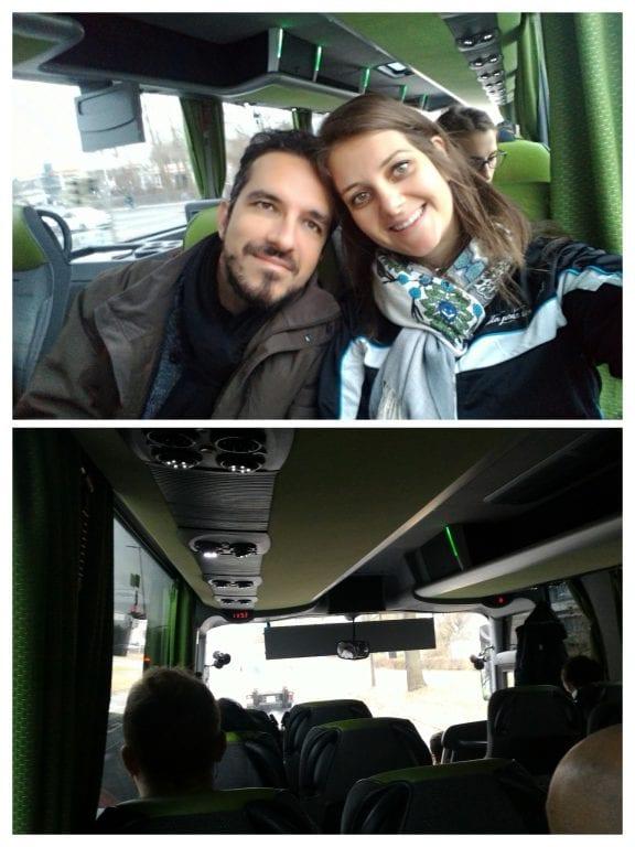 Trajeto de ônibus entre Nuremberg e Munique, que já tínhamos passagens compradas desde o Brasil.