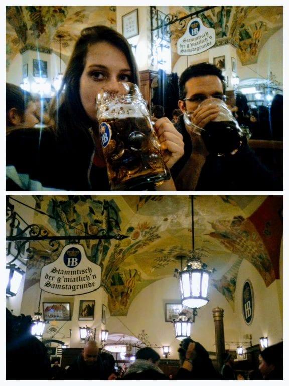Hofbräuhaus - HB, uma das mais famosas cervejarias de Munique e do mundo