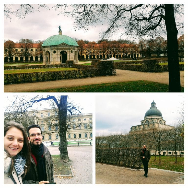 Hofgarten Münich Residenz, os jardins do palácio Residência de Munique