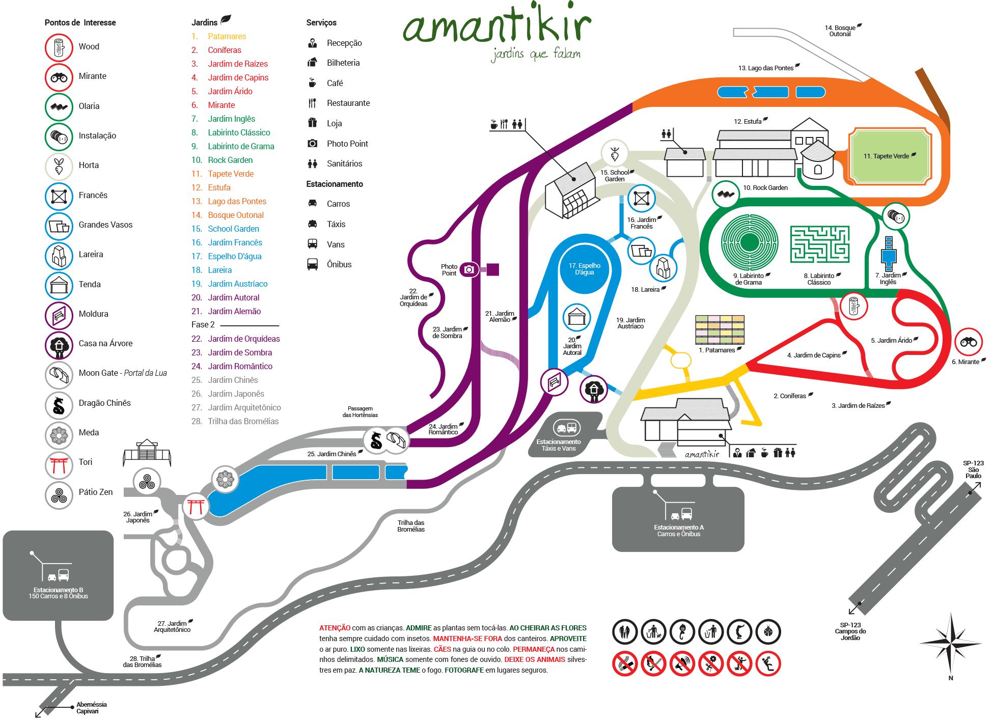 Mapa do Parque Amantikir