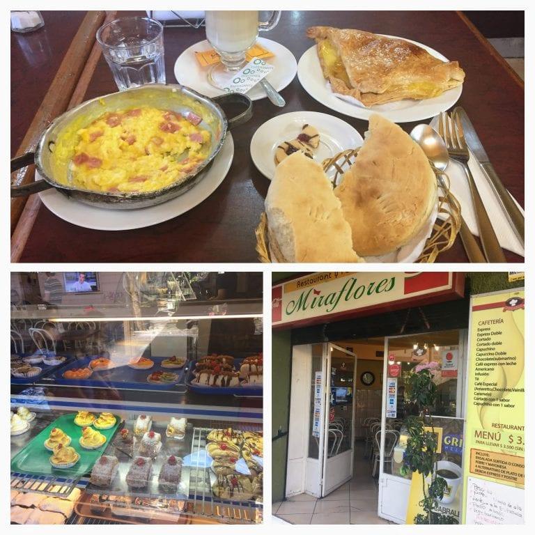 Pasteleria Miraflores - Simples mas com o melhor atendimento de Santiago. Café da manhã delicioso!