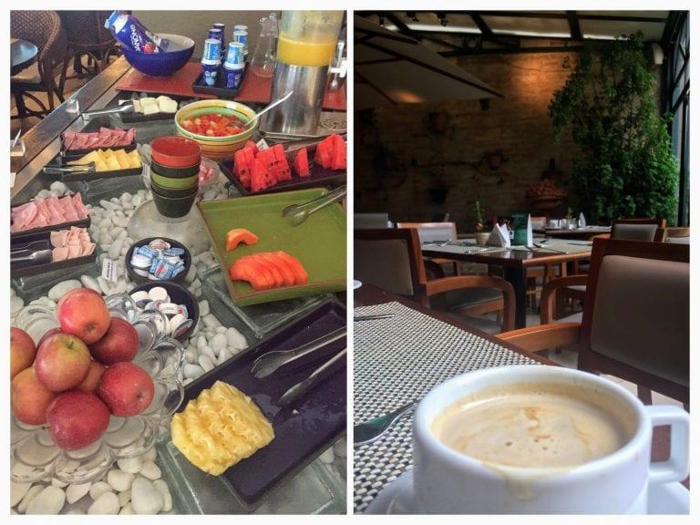 Buffet de café da manhã do Mercure Privilege