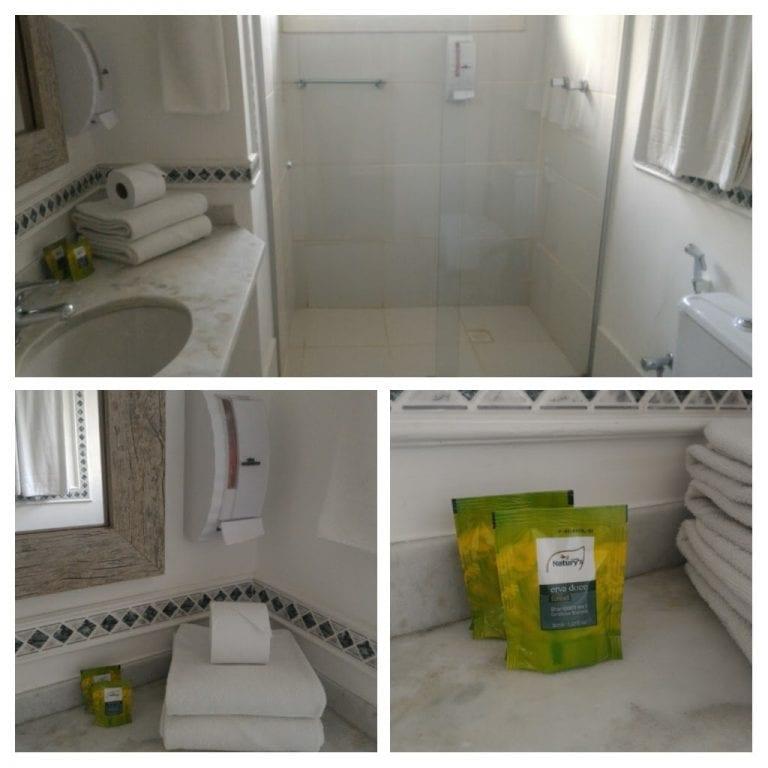 Detalhes do banheiro do Eko Residence Hotel