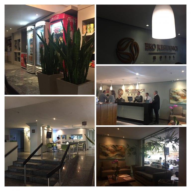 Lobby e recepção do Eko Residence Hotel