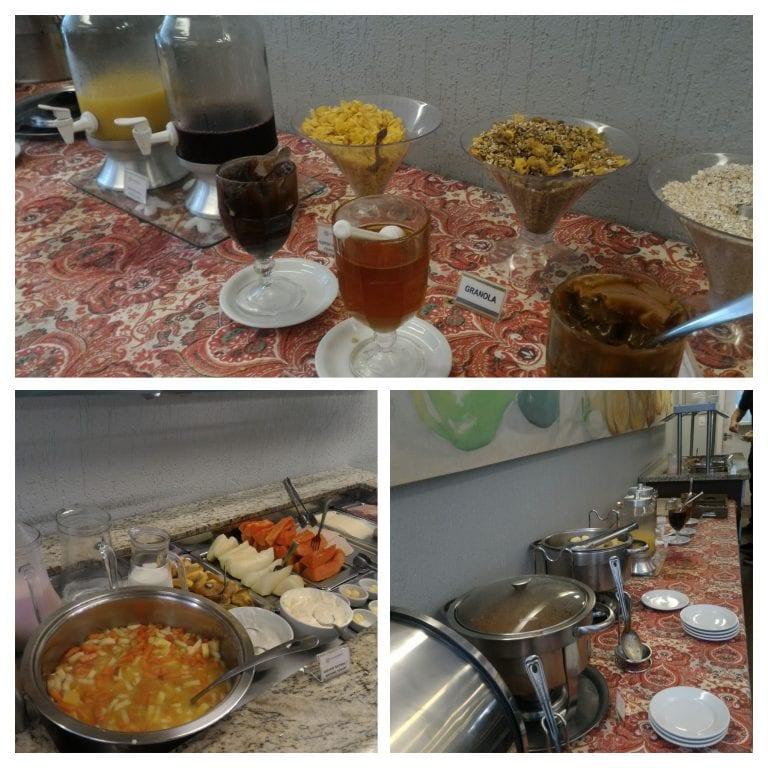 Sucos e outras delícias do café da manhã do Eko Residence Hotel