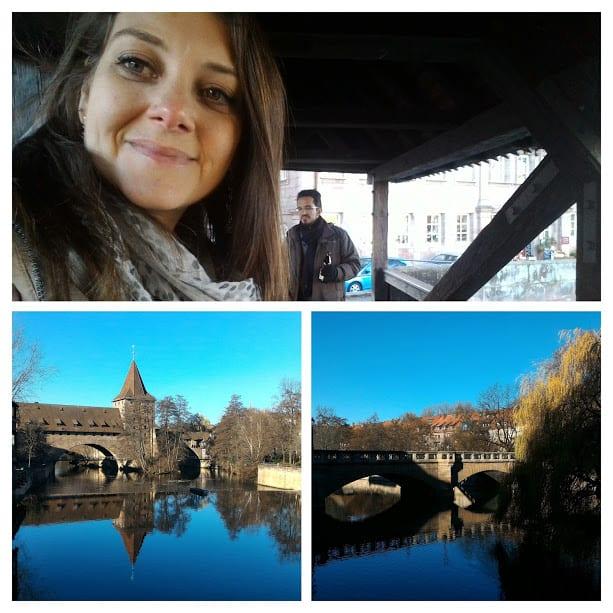 As pontes que cortam o rio Pegnitz