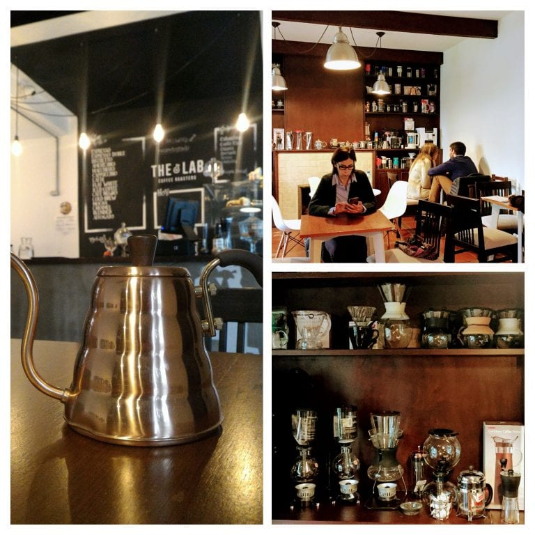 The Lab Coffee Roasters: ambiente interno