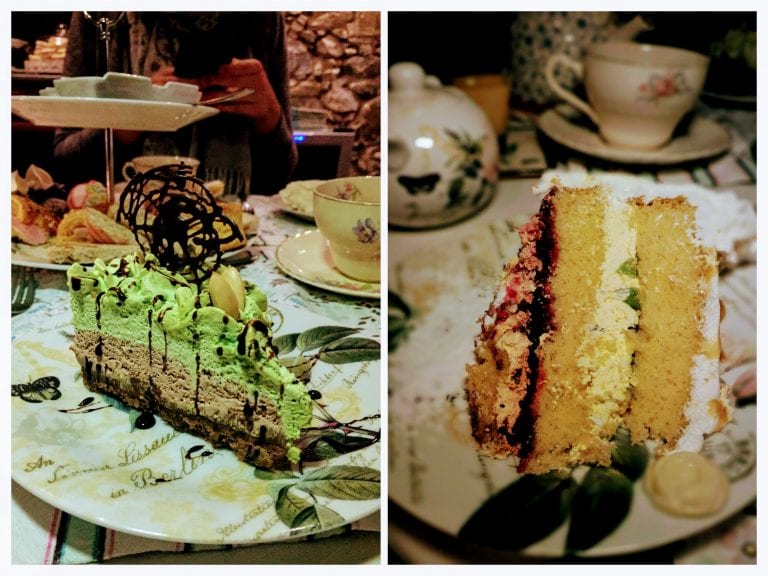 Queriéndote Casa de Té y Bistró: torta de pistache e queriendote