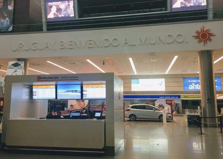Aeroporto de Carrasco, em Montevidéu, no Uruguai