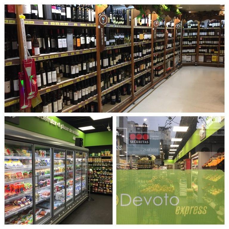 Devoto, rede de supermercados no Uruguai. Uma loja a cada esquina.