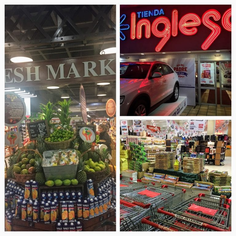 Tienda Inglesa, com hipermercados em alguns shoppings de Montevidéu. Melhor supermercado do Uruguai.