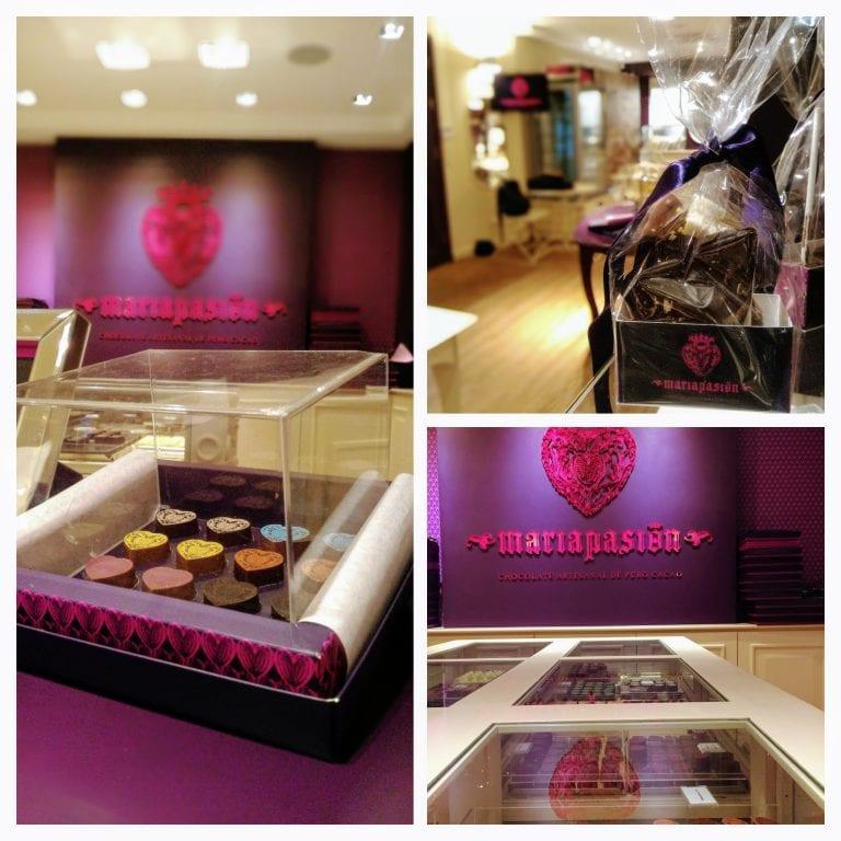 Maria Pasión: detalhes da loja de chocolates artesanais em Montevidéu