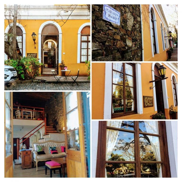 La Misión Hotel: detalhes da fachada em frente a Plaza Mayor