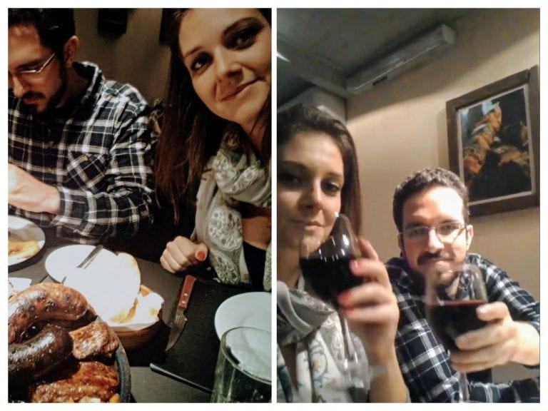 Marlo Parrilla: devorando o brasero e bebendo uma taça de vinho da casa