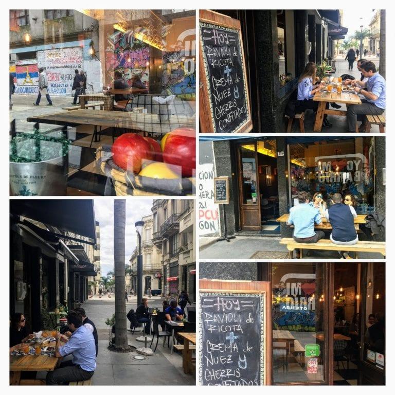 Lucca Bistro y Cafe: fachada e mesas na rua