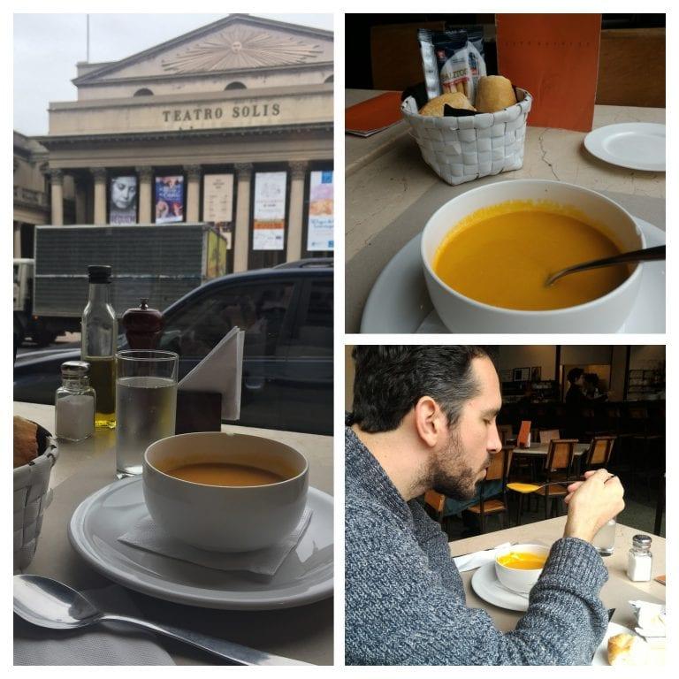 Café Bacacay: de entrada uma sopa de cenoura