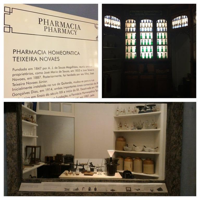 Museu Histórico Nacional: farmácia homeopática Teixeira Novaes