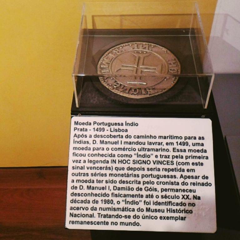 Museu Histórico Nacional: maquete tátil da Moeda Portuguesa Índio