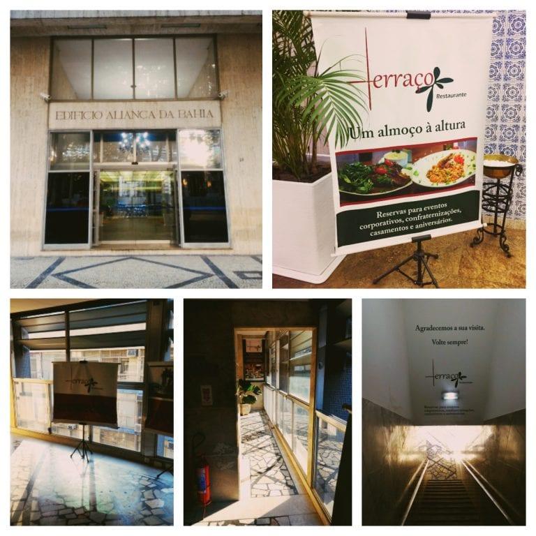 Terraço Restaurante: chegando no restaurante