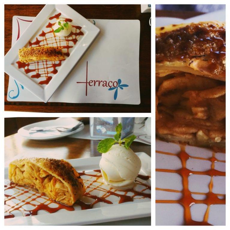 Terraço Restaurante: a sobremesa - um strudel de maça