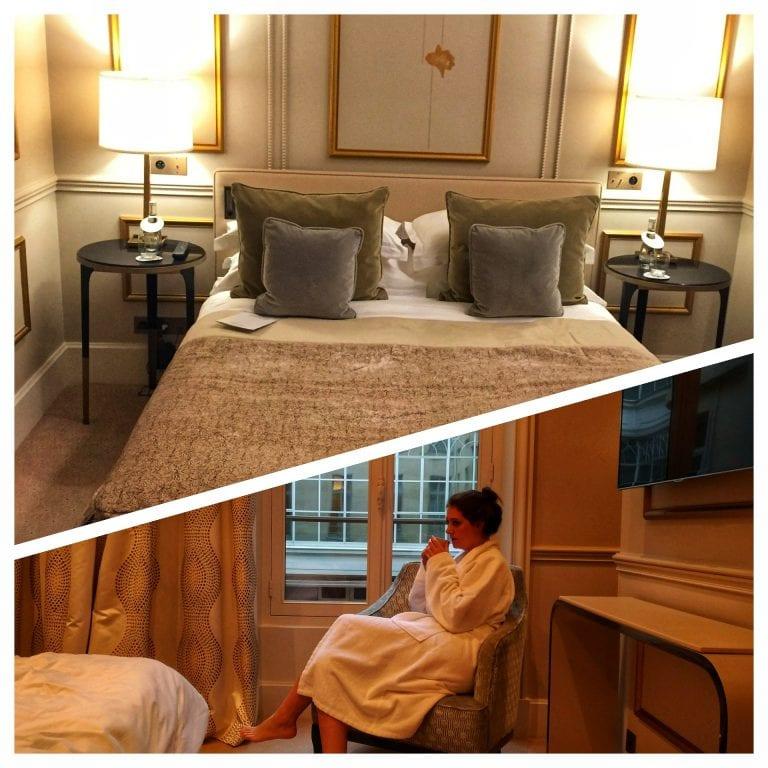 Le Narcisse Blanc: quarto amplo com cama e poltrona confortável
