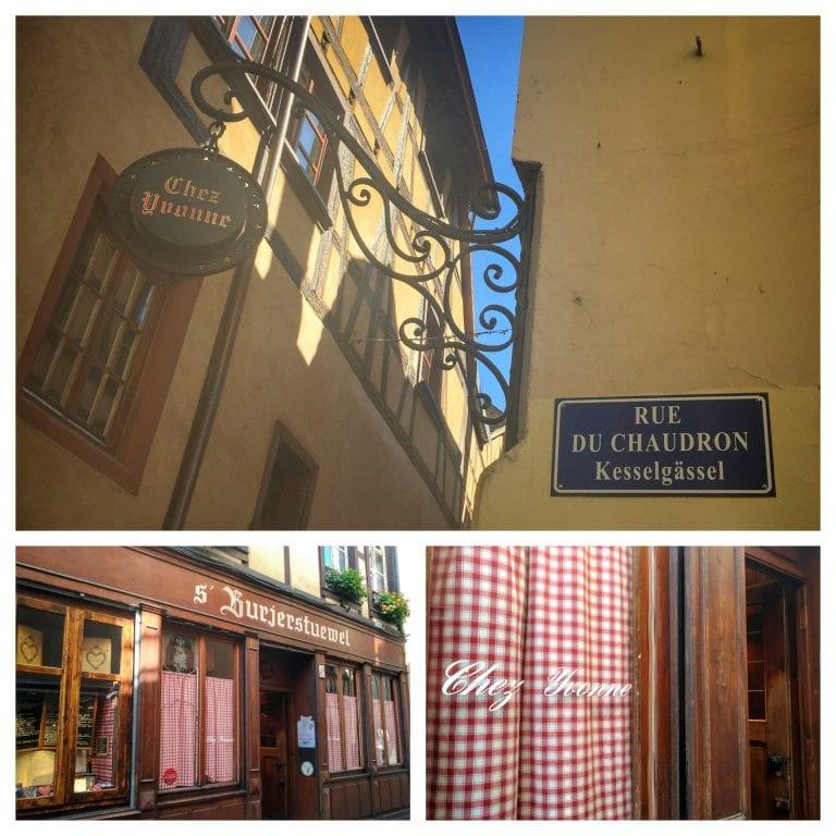 Chez Yvonne Strasbourg: área externa do restaurante