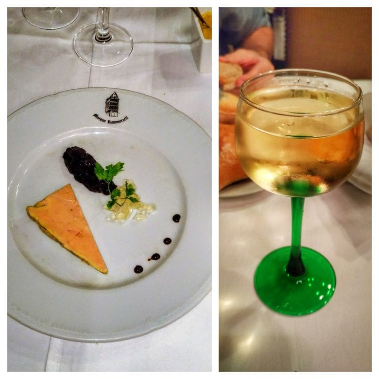 Maison Kammerzell: foie gras e gewurztraminer