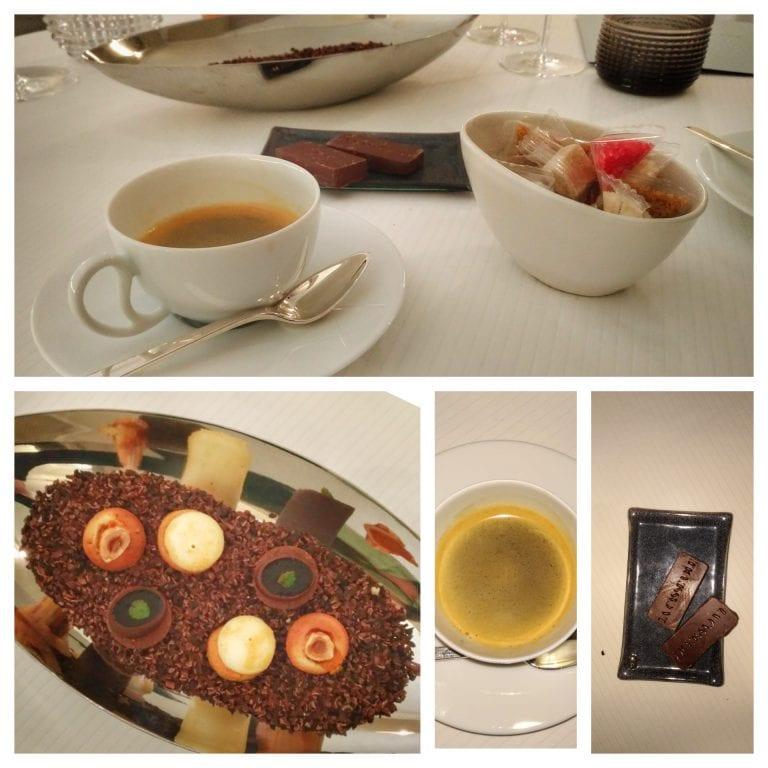 La Casserole: café acompanhado de docinhos e chocolate