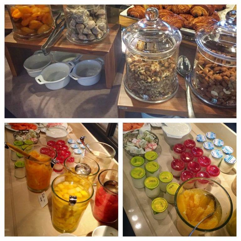 Sofitel Strasbourg Grande Ile: no café da manhã tinha iogurtes variados, frutas (frescas e secas), castanhas e granolas