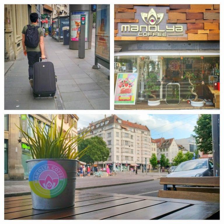 Manolya Coffee: chegada ao café com as mesinhas na rua super convidativas